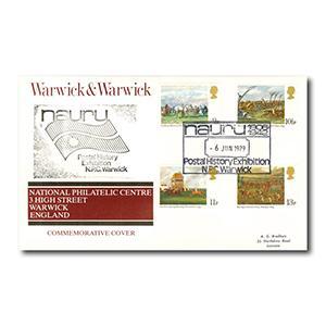 1979 Horse Racing - Warwick & Warwick cover - Nauru Postal History Exhibition Handstamp