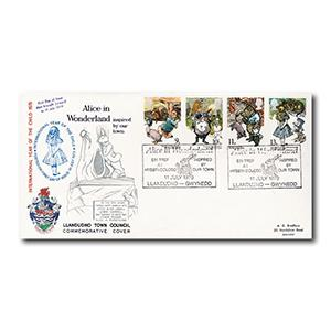 1979 Year of the Child - Llandudno Town Council - Alice in Wonderland handstamp