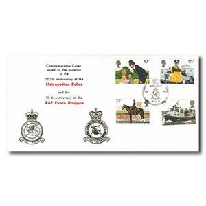 1979 Metropolitan Police & RAF - British Forces Postal Service 1665 Handstamp