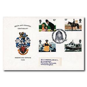 1979 Metropolitan Police - Devon & Cornwall Constabulary - Exeter Handstamp