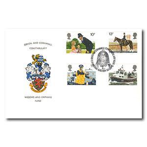 1979 Metropolitan Police - Devon & Cornwall Constabulary Handstamp