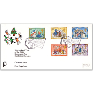1979 Christmas - International Year of the Child Exhibition Coventry - Exhibition handstamp