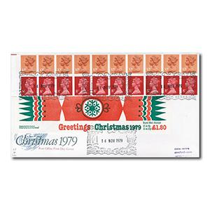 1979 1.80 Folded Christmas Cracker Booklet - Windsor handstamp