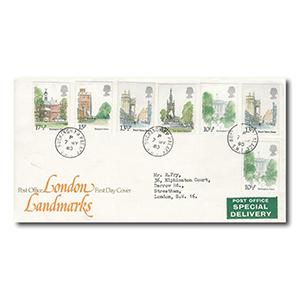 1980 London Landmarks - Buckingham Palace counter date stamp