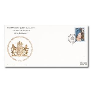 1980 Queen Mother - British Forces Postal Service 8080 Handstamp