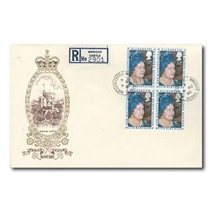 1980 Queen Mother's 80th birthday - Windsor Castle counter date stamp