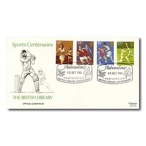 1980 Sports - British Library - Autumntime, London WC handstamp