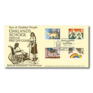 1981 Disabled - Oaklands School - Salford Handstamp