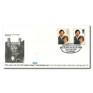 1981 Royal Wedding - Todd Scales Oficial - Todd Scales Handstamp