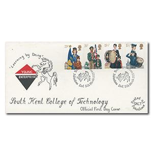 1982 Youth, South Kent College Of Technology - Folkestone Handstamp