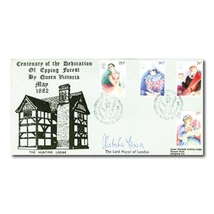 1982 Theatre - Hawkwood Official - Epping Forest handstamp - Signed Lord Mayor of London