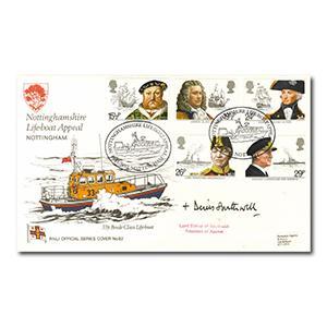 1982 Maritime - RNLI - Nottinghamshire Lifeboat Appeal Handstamp