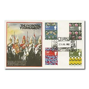 1982 Textiles - Tournament - British Forces Postal Service 1840 handstamp