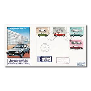 1982 Cars - Ford official - Birmingham N.E.C. counter date stamp