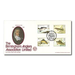 1983 Fishes - Bradbury Official - Birmingham Anglers Association Handstamp