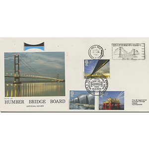 1983 Engineering Collect Br Stamps Slogan Humber Bridge Official