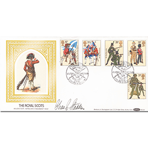1983 British Army, The Royal Scots - Signed by Charles Stadden