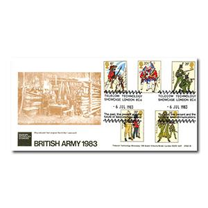 1983 Army - British Telecom - Telecom Technology Showcase Handstamp
