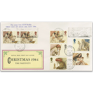 1984 Christmas Hastings Slogan and Bklt Stamps