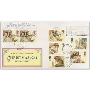 1984 Christmas Hastings Slogan and Bklt Stamps