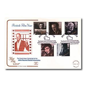 1985 Films - Cotswold Cover - David Niven, Motor Neurone Disease Association Handstamp