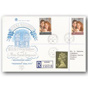 1986 Royal Wedding - Windsor Castle counter date stamp