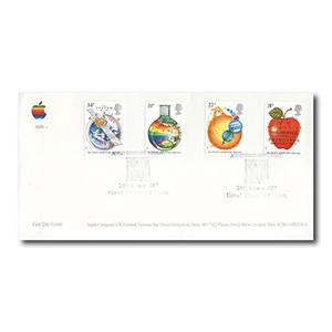 1987 Newton Anniversary - Arlington Official - Apple's 10th Anniversary Handstamp