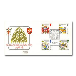 1987 Heraldry - York Minster - Duke & Duchess of York Handstamp