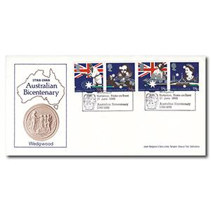 1988 Bicentenary - Wedgwood, Barlaston Handstamp
