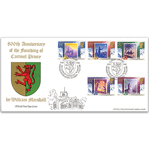 1988 Christmas - Bradbury Official - Cartmel Priory Handstamp