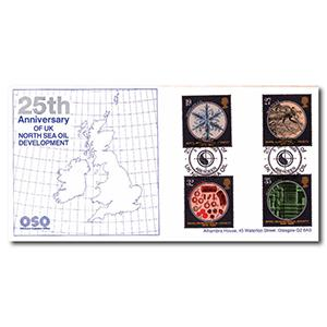 1989 Microscopes - North Sea Oil Handstamp