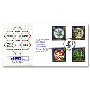 1989 Microscopes - Jeol - London NW9 21st Anniversary Handstamp