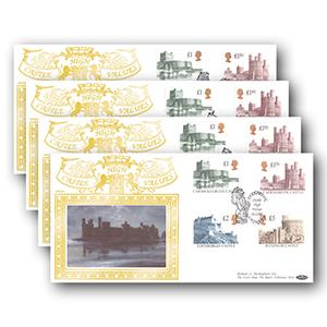 1992 Castles High Values Special Gold - Set of 4