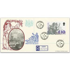 1993 £10 Britannia Bradbury Windsor Britannia H/s