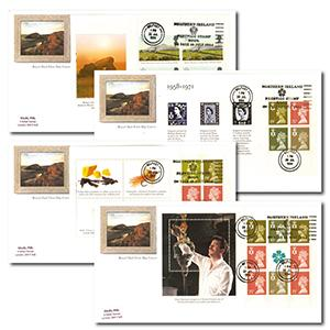 1994 Northern Ireland - Four Covers - Four Panes - Northern Ireland Prestige Stamp Book Slogan