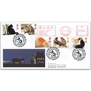 1995 Cats - Jenkins Shelter handstamp
