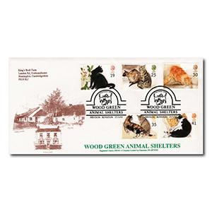 1995 Cats - Wood Green Animal Shelters Handstamp