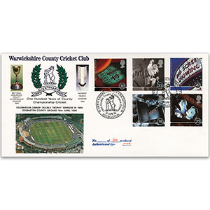 1996 Film Stamps - Warwickshire County Cricket Club Handstamp