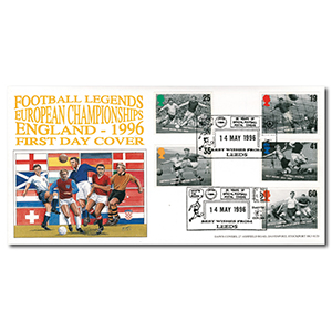 1996 Football Legends - Leeds handstamp
