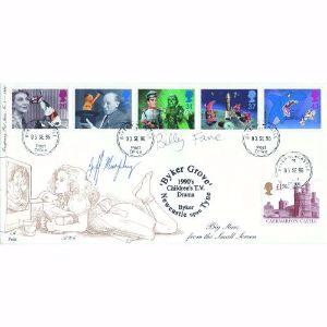 1996 Children's T.V. - Byker Newcastle Postmark - signed Billy Fane & Jeff Murphy