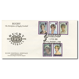 1998 Diana - William Webb Ellis Handstamp