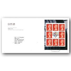 1999 Profile on Print - Royal Mail - Buckingham Palace pane - London handstamp
