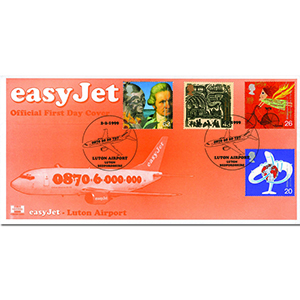 1999 Travellers - Havering Easy Jet cover - Luton Airport handstamp