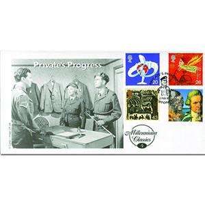 1999 Travellers - Cambridge Stamp Centre - Private's Progress handstamp