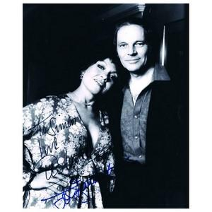 Cleo Laine & John Dankworth - Autograph - Signed Black and White Photograph - Framed