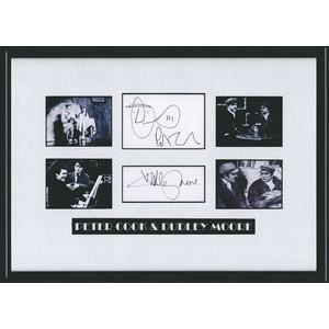 Peter Cook & Dudley Moore signatures (Framed)