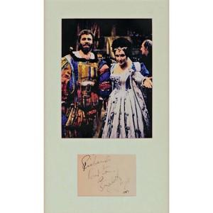 Burton & Taylor - Autograph - Signatures Mounted with Colour Photograph - Framed