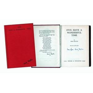 Enid Blyton Signed Book - 'Five Have a Wonderful Time'
