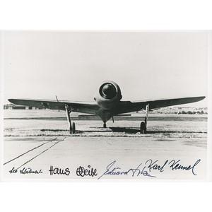 Luftwaffe Aircraft Photo Signed by 4X Pilots