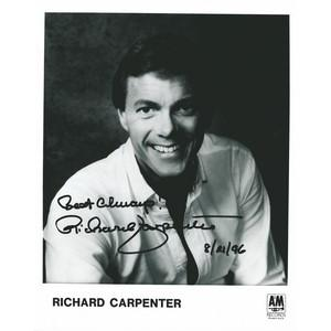 Richard Carpenter - Auograph - Signed Black and White Photograph